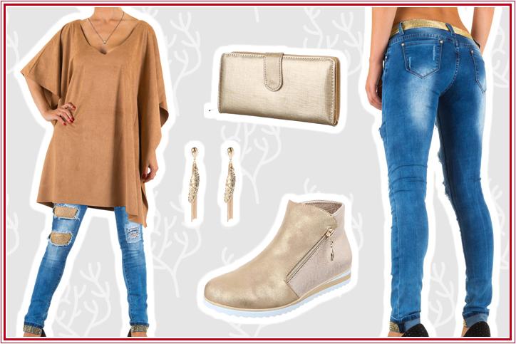 Damenstiefeletten - Goldener Herbst, goldener Style – goldene Ankle Boots online bestellen und mit Deinem Look glänzen!