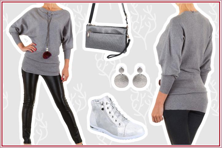 Damenstiefeletten - Silver Casual – der perfekte Ankle-Boots-Look für kühle Herbsttage! Jetzt günstig bei Ital-Design kaufen!