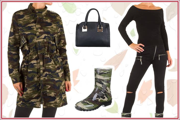 Wild Style – Gummistiefeletten im Military Look günstig online kaufen und Trendsetter werden!