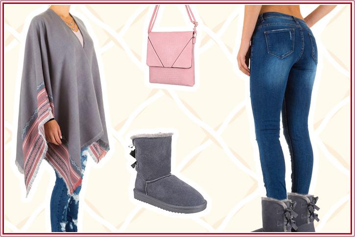 So Sweet - bestell Dir dieses süße Poncho-Outfit für Damen günstig online und werde zum Hingucker!