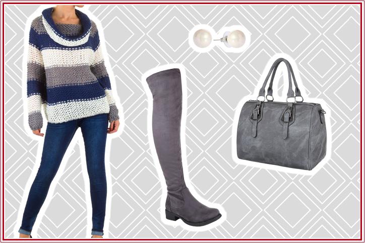 Grobe Masche, feiner Style – jetzt diesen lässigen Damen-Strick-Pullover günstig bestellen und zur Trendsetterin werden!