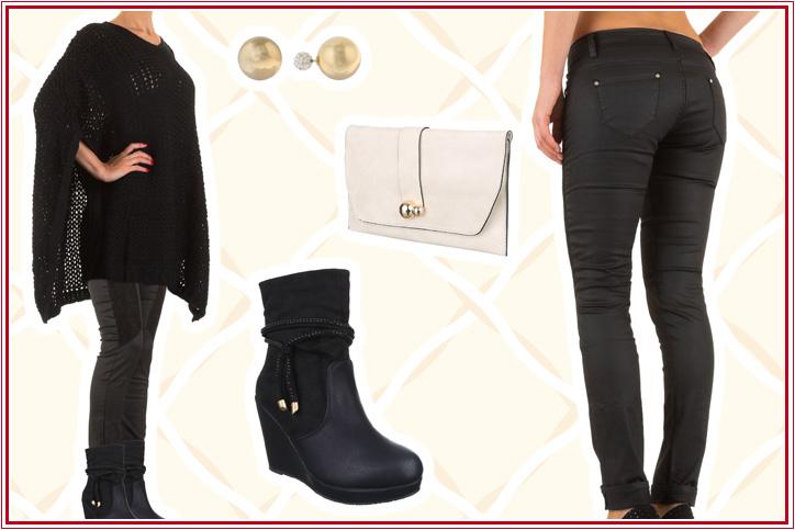 So Ladylike – pure Eleganz online shoppen mit diesem Poncho-Look für Damen in Schwarz!