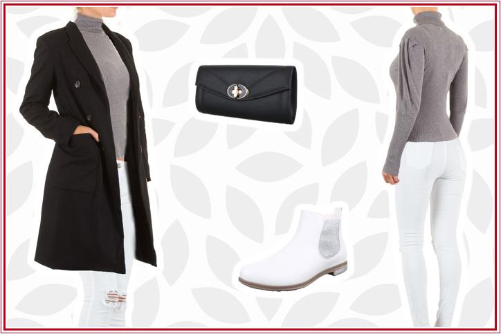 Heißer Feger – Genieße pure Eleganz mit diesen weißen Stiefeletten für Damen zum günstigen Online-Bestpreis!