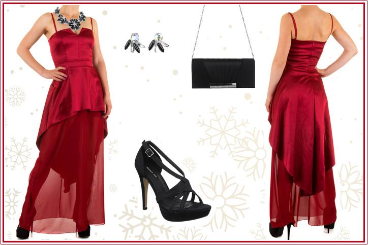 Feurige Schönheit – Mit diesem roten Abendkleid zum günstigen Online-Einkaufspreis bist Du der Hingucker!