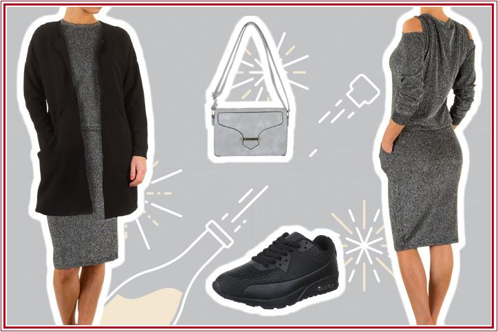 Sneaker Love – Bestell Dir günstig online schwarze Freizeitschuhe für Damen für Dein komplettes Easy Chic Outfit!