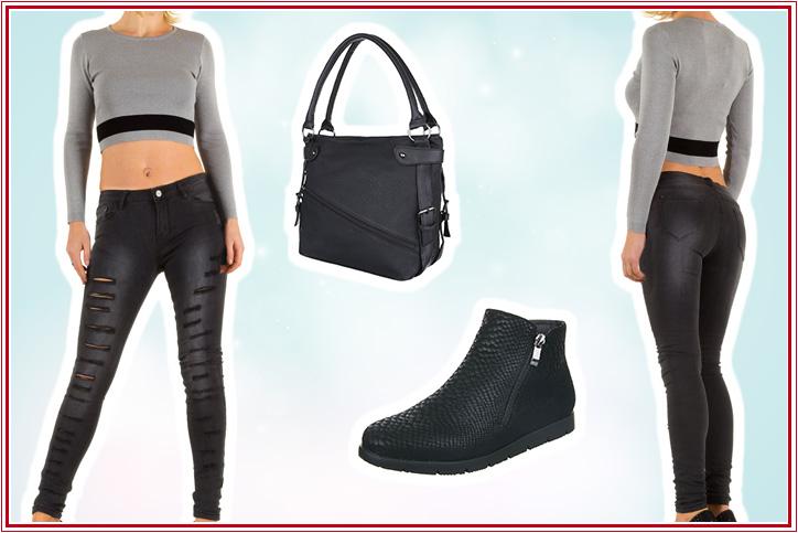 Street Café – Bestell Dir online Deinen Casual Look mit flachen Ankle Boots günstig bei Ital-Design!