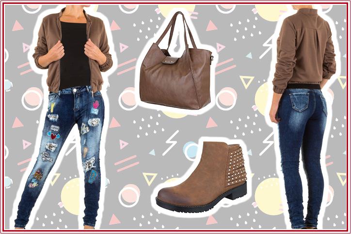 Casual Shopper – Kauf Dir Damenjeans mit Patches günstig online mache Dein lässiges Freizeit-Outfit perfekt!