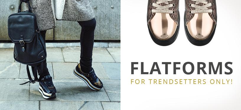 Hoch hinaus mit Flatforms für Damen zum günstigen Online-Shopping-Preis!