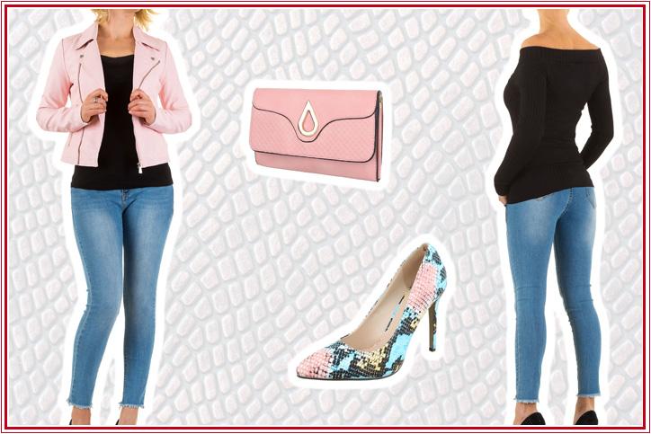 Pink Python – Schlangenmustertasche und Snake Print High Heels günstig online shoppen und zur Fashionista werden!
