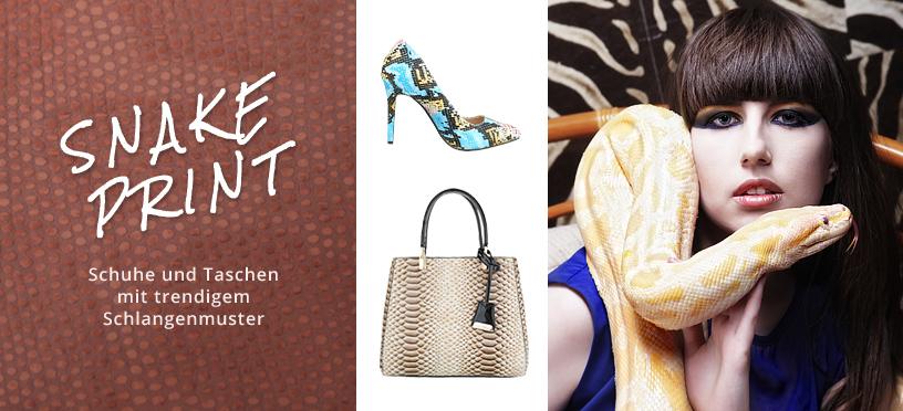 Snake Print – Schuhe und Taschen mit trendigem Schlangenmuster