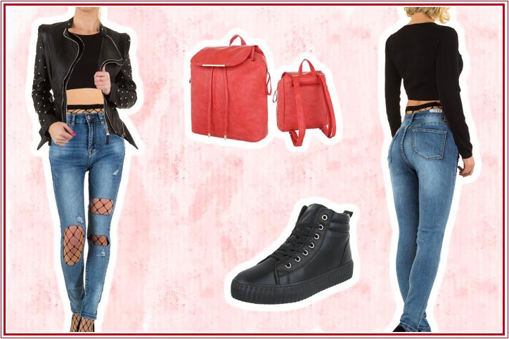 Back to School – Dein cooles Outfit mit rotem Damenrucksack zum günstigen Onlineeinkaufspreis!