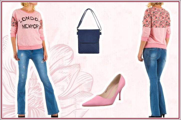 Sweet Casual – Bestell Dir Dein süßes Outfit mit spitzen Pumps jetzt super günstig im Online-Shop!