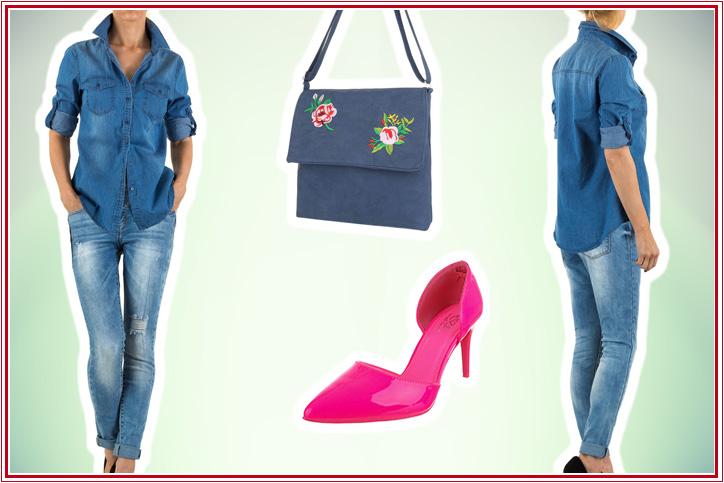 Pink & Denim – Schnapp Dir den Jeanslook mit pinken Pumps zum günstigen Onlineeinkaufspreis!