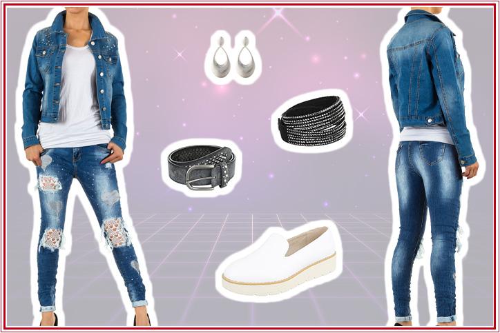 Denim Babe – Günstige Jeans-Looks im 80s-Style online bestellen geht bei Ital-Design so einfach!