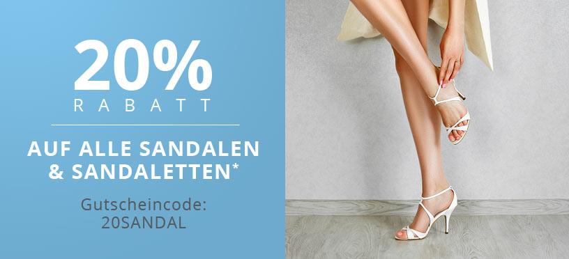 So geht Sommer: -20 % auf Sandalen & Sandaletten mit Deinem Gutscheincode!