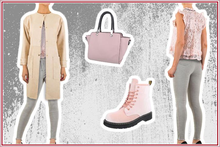 Sweet & neat – Elegant durch den Herbst mit rosa Worker Boots für Damen zum günstigen Onlineeinkaufspreis!