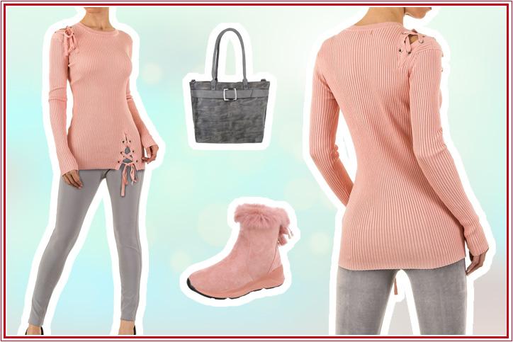 Schick in Strick – So bestellst Du Dir Dein Outfit mit süßem rosa Strickpullover super günstig online!