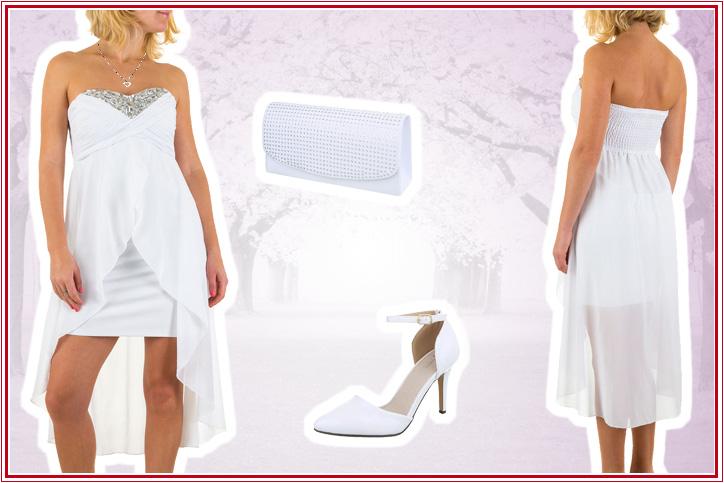 Summer Wedding – Jetzt für Deine Sommerhochzeit weiße High-Heel-Brautschuhe günstig online bestellen!