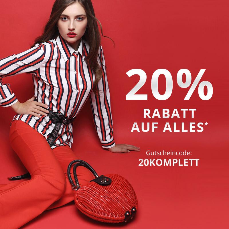 Satte 20 % Rabatt mit Deinem Gutscheincode 20KOMPLETT sparen!