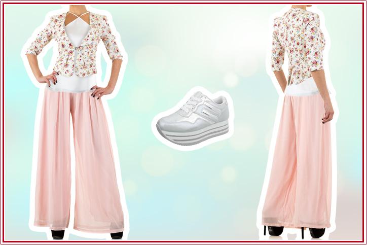 Fancy Pants – Stylische Culottes mit günstigen Sneakers für Deinen extravaganten Spring Look!