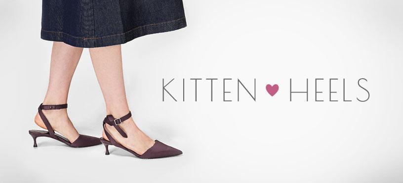 Mit Kitten Heels kommst Du super schick in den Frühling 2018!