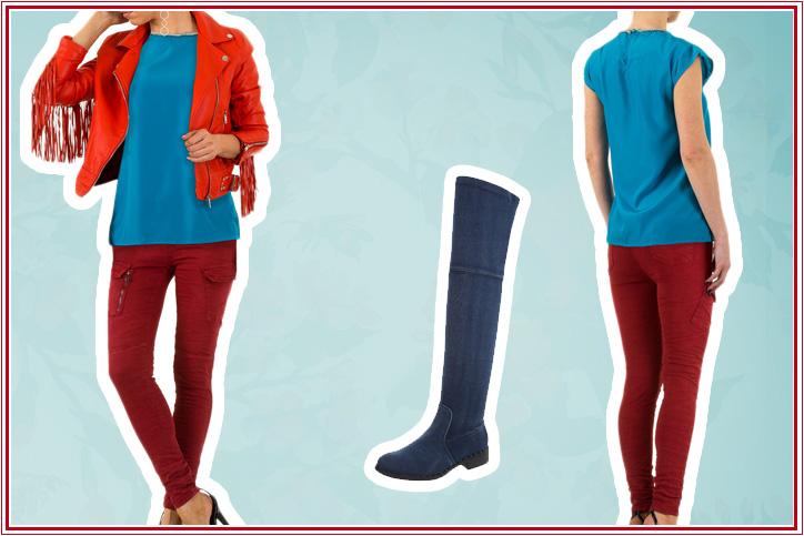 Overknees Casual – Bequeme flache Overknee-Stiefel machen Deinen Alltagslook zum Hingucker!