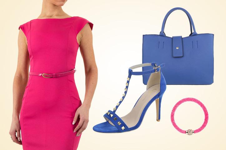 Pink Blue Elegance – Diesen schicken Knallfarben-Look günstig online bestellen & zur Lady werden