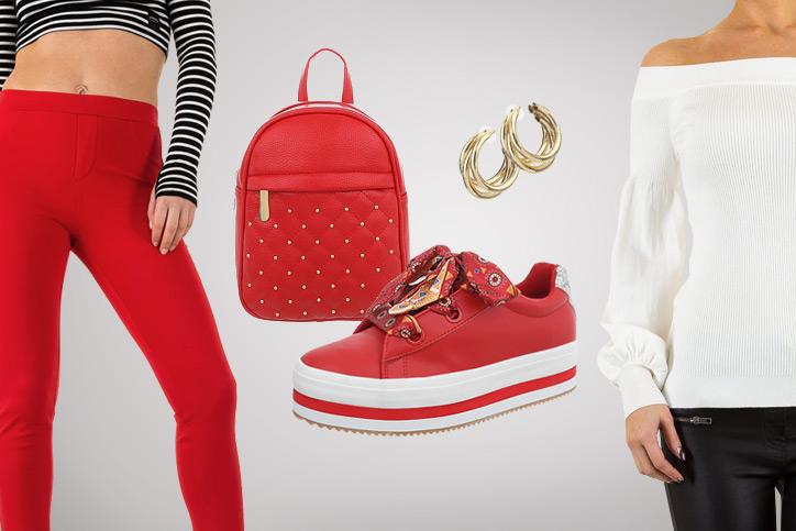 Bright Red Casual – Knallfarben im lässigen Outfit zum günstigen Preis sind ein echter Hingucker
