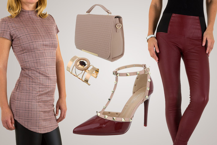 Lady in Red – Dein Outfit in Rottönen mit spitzen Pumps zum günstigen Onlinebestellpreis sichern