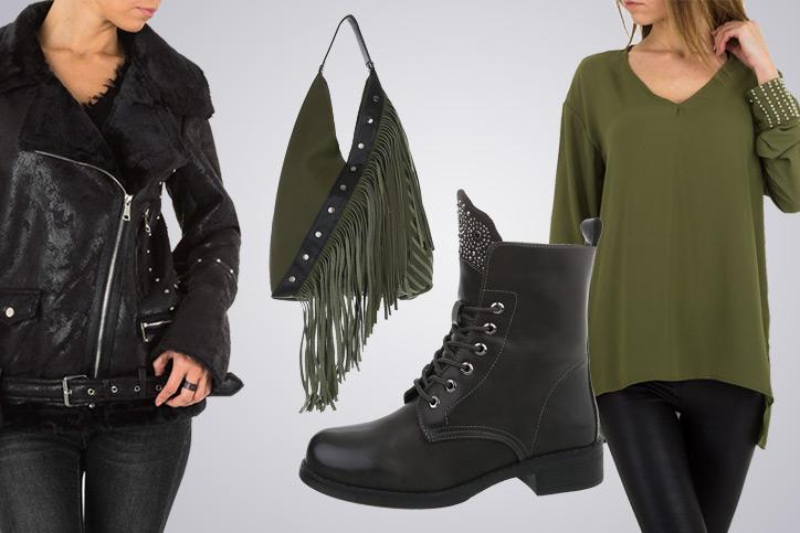 Lace-up Gal – Dein perfektes Outfit mit günstigen Schnürboots im Biker-Look online shoppen