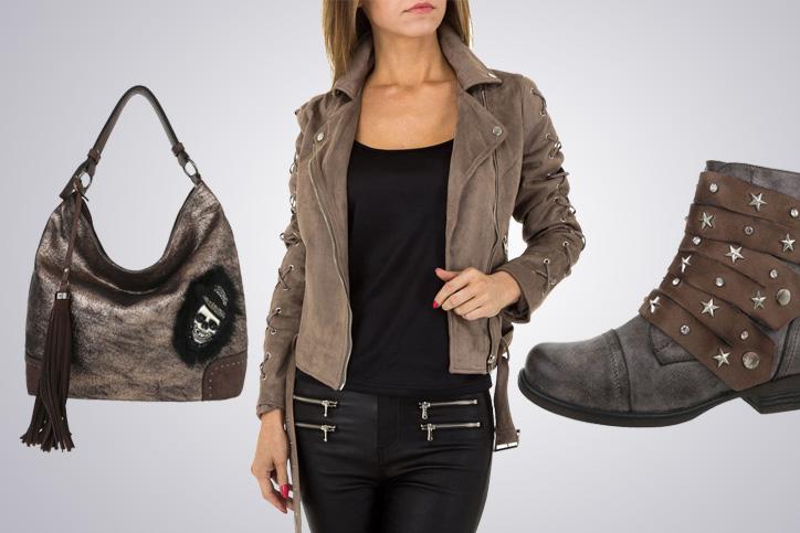 Biker-Style Girl – Bei Ital-Design günstige Fashion aus Kunstleder bestellen und sofort losrocken!