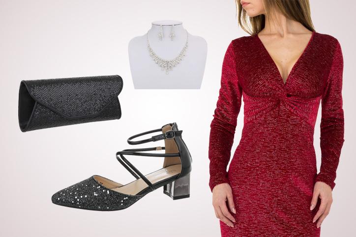 Red Hot – Dein sexy Ausgehlook mit flachen spitzen Schuhen zum günstigen Onlinepreis