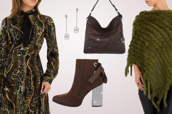 Glitzer-Lady – Dein schickes Outfit mit funkelnden High Heels mit Strass zum günstigen Onlinepreis