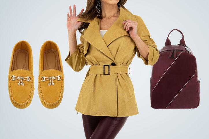 Backpack Lady – Dein komplettes Outfit mit rotem Rucksack zum günstigen Onlineeinkaufspreis