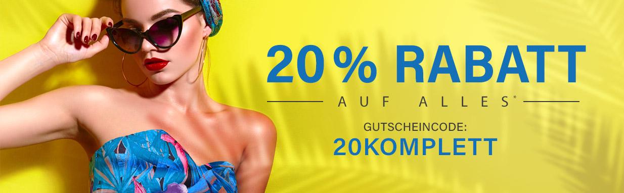 Gutscheinaktion I 20 % Rabatt im August 2020