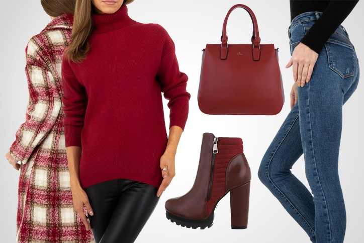 Red Boots – Günstige Stiefeletten in Rot mit hohem Absatz zum lässigen Casual Style kombinieren