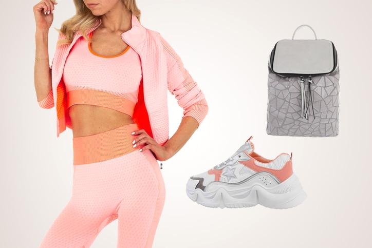 Sporty Chic – Dreiteiligen Freizeitanzug mit Sneakers zum Sporty Style günstig kombinieren