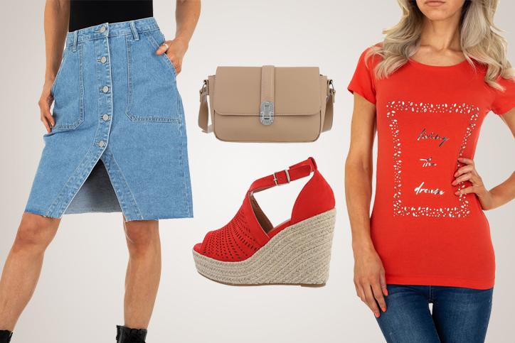 Denim Elegance – Dein schicker Sommerlook mit stylischem Jeansrock zum günstigen Onlinepreis
