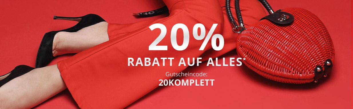 Gutscheinaktion I 20 % Rabatt 2021