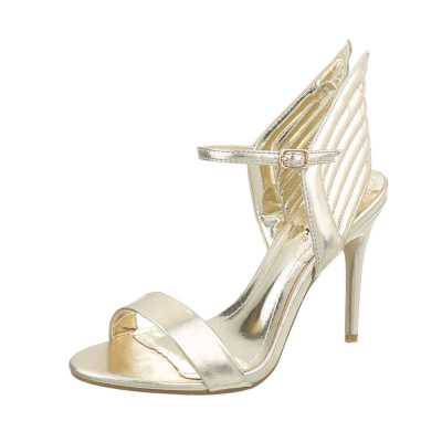 High Heel Sandaletten für Damen in Gold