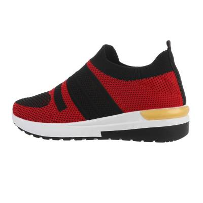 Sneakers low für Damen in Rot und Schwarz