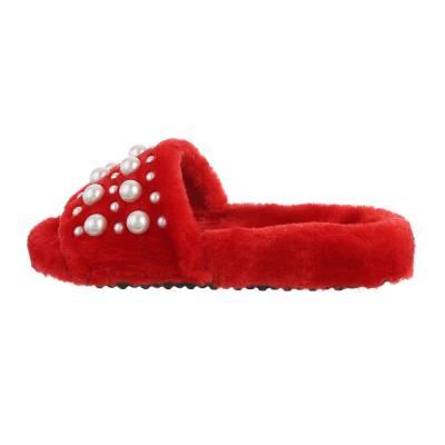 Hausschuhe für Damen in Rot