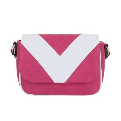Kleine Damen Tasche Pink Weiß