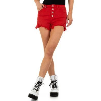 Jeansshorts für Damen in Rot