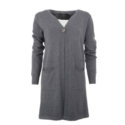 Strickjacke für Damen in Grau