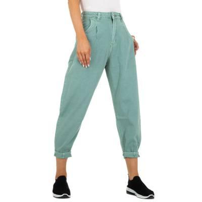 Relaxed Fit Jeans für Damen in Grün und Grün