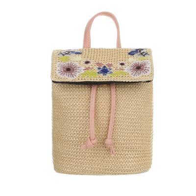 Rucksack für Damen in Rosa und Beige