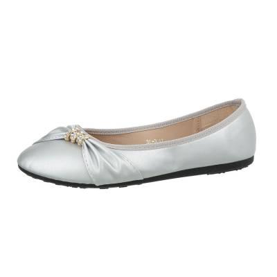 Klassische Ballerinas für Damen in Silber