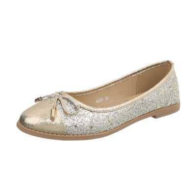 Klassische Ballerinas für Damen in Gold