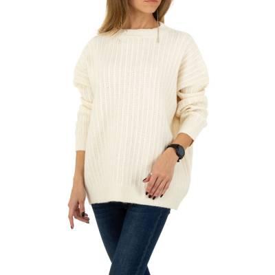 Strickpullover für Damen in Weiß